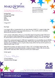 Thank You Letter For Donations Stunning Make A Wish Thank You Letters Self Hypnosis Downloads