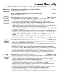 Activity Director Resume Winning Non Profit Development Sample For