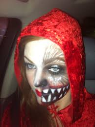 a red riding hood wolf hybrid