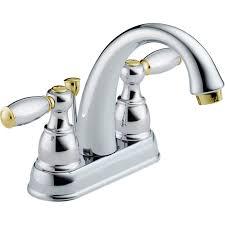 Brass Bathroom Faucet Shop Delta Traditional Chrome Brass 2 Handle 4 In Centerset