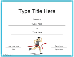 Cross Country Certificate Templates Free Sports Certificates
