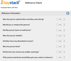 employee reference check tool and more questions