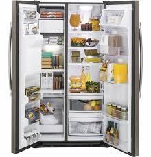 refrigerator 19 cu ft. gzs22dmjes ge 21.9 cu. ft. counter depth side-by-side refrigerator - slate 19 cu ft