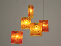 innovative hanging ceiling light fixtures fused glass pendant lights chandelier lighting installation red wire