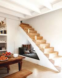 inspiring storage design under staircase rustic wood table long bench under stair storage with interesting