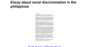 essay about racial discrimination in the google docs
