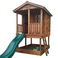 sunflower playhouse with sandbox