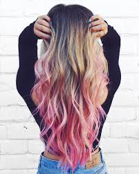 Blonde Hair With Pink Tips See