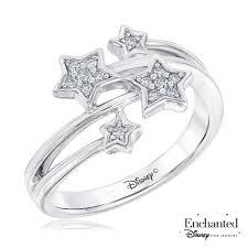 amazon disney enchanted fine jewelry tinkerbell s diamond ring 1 10ctw size 5 5 jewelry
