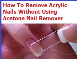 remove acrylic nails without acetone