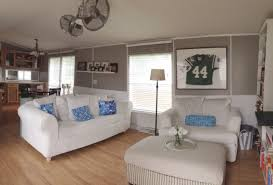 Mobile Home Living Room Single Wide Manufactured Mobile Home Remodel Makeover Living Room