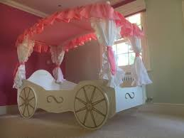 cozy kids furniture. Princess Carriage Bed With Pink Canopy And Wall Plus Glass Window For Kids Bedroom Cozy Furniture