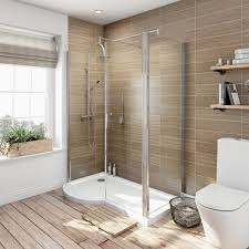 Walk In Shower Enclosure Orchard 6mm Left Handed P Shaped Shower Enclosure With Tray 1500 X