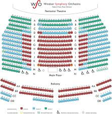 seating map windsor symphony orchestra