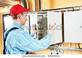 fuse box stock images royalty images vectors shutterstock electrician builder engineer inspector checking data of equipment in fuse box