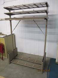 1950 s large metal office valet coat rack intended for vogel peterson coat rack
