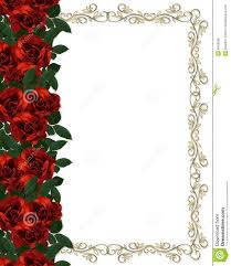 Red Roses Border Wedding Invitation Stock Illustration Image