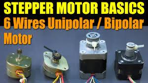 stepper motor basics wires unipolar bipolar motor stepper motor basics 6 wires unipolar bipolar motor