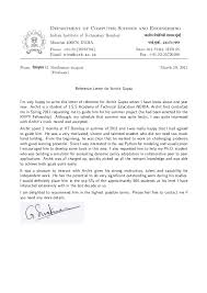 letter of recommendation from college professor recommendation letter prof g sivakumar h o d cfdvs iit bombay
