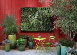 great backyard wall decor outdoor art fresh decoration red fence natural d m a idea design color painting