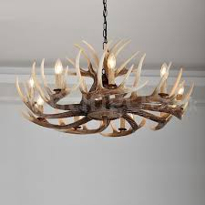 9 light rustic artistic retro antler vintage chandelier for living room dining room bedroom