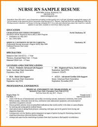 Example Of Rn Resume Rn Resume Objective