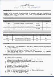 Fresher Resume Format For Accountant 4 Reinadela Selva