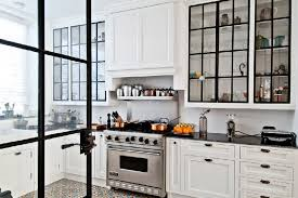 contemporary kitchen glass cabinet doors