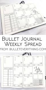 Bullet Journal Template Pdf Weekly Spread From Bullet Everything Find Measurement Templates