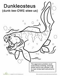 Sea Monster Coloring Pages Dunkleosteus Kiddos Monster Coloring