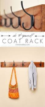 Diy Wall Mounted Coat Rack With Shelf DIY Wall Mounted Coat Rack Coat racks Easy and Coat hooks 100