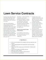Snow Removal Contract Template Contracts Seasonal Plow Best Of
