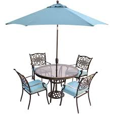 round glass patio table with umbrella hole cool storage furniture