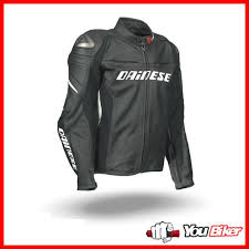 leather jacket dainese racing d1 black