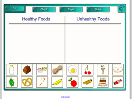 Healthy Vs Unhealthy Food Chart Smart Exchange Usa Search Lessons By Keyword