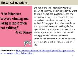 Best Questions To Ask After An Interview 53 At T Interview Questions And Answers Pdf