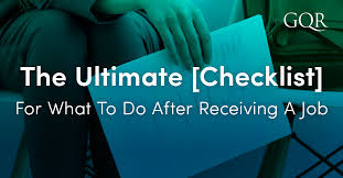 The Ultimate Checklist For What To Do After Receiving A Job Offer