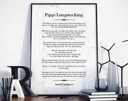 Pippi Poster Etsy