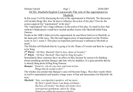 supernatural in macbeth essay ambition article custom essay  macbeth analytical essay rdplf