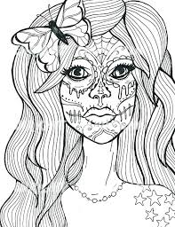 Cool Skull Coloring Pages Coloring Pages Of Roses And Skulls Cool