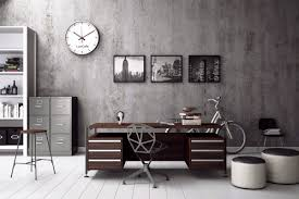 Stylish office Home An Industrial Style Office Livinator Designing Masculine Home Office