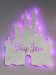 Fairy Castle Night Light Princess Castle Custom Name Castle Kids Decor Fairy Tale