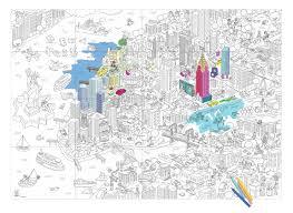 Poster Colorier New York 100 X 70 Cm New York Omy Design Play
