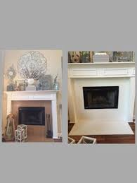 painted tile around fireplace with diy chalk paint and sealed it general finishes wipe on painting48 fireplace