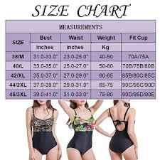 Us Swimsuit Size Chart Details About Us Women One Piece Swimsuit Beachwear Swimwear Monokini Bikini Bathing Plus Size