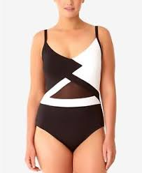 Kenneth Cole Plus Size Swimwear Size Chart Anne Cole Plus Size 24w Hot Mesh One Piece Maillot Swimsuit