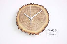 PatTheClock Reloj De Pared, Original Diseño Eco Madera Maciza Natural  Anillo Anual 280 Mm Creativo