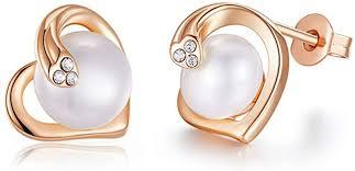 Pengjia Fine Pearlearrings Culturedpearlpearl Earrings <b>Lady Rose</b> ...