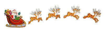 Christmas Santa Sleigh Reindeer Decoration - Christmas Lights Card and  Decore