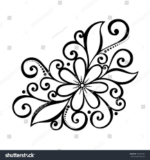 Flowers With Designs Beautiful Decorative Flower With Leaves Patterned Design